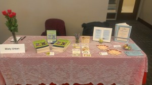 picture of table at book fair